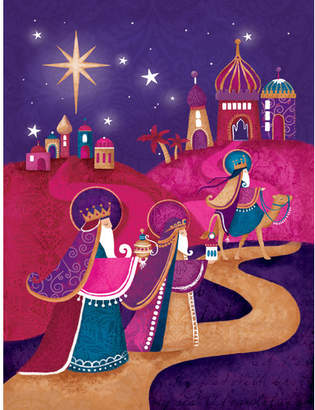 Caroline's Treasures Christmas Wise Men in Purple 2-Sided Garden Flag
