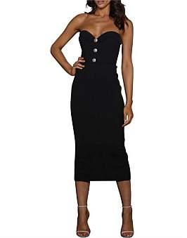 Elle Zeitoune Marley Structured Paneled Dress