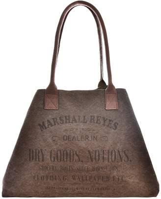 Vintage Addiction Marshall Reyes Label Expandable Canvas Tote Bag