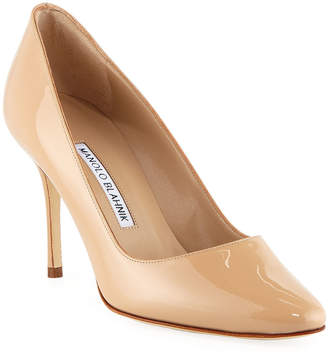 ee58db35bb4 Manolo Blahnik Sambra Patent 90mm Pumps