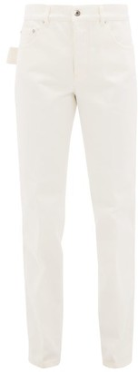 Bottega Veneta Relaxed Straight Leg Jeans - Womens - White
