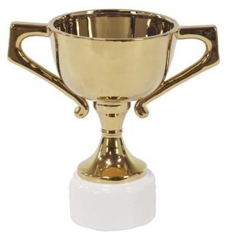 DecMode Decmode 14 X 9 Inch Modern Gold-Finished Ceramic Trophy Urn, Brass