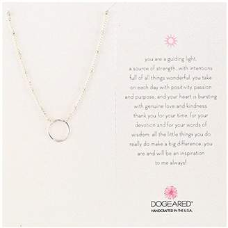 Dogeared Karma Ring On Beaded Sterling Chain Necklace
