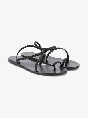 Ancient Greek Sandals braided Eleftheria strappy flat sandals