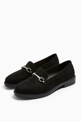 Topshop LOGAN Black Loafers