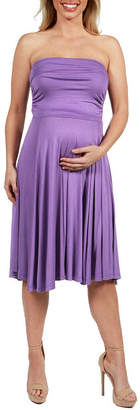 24/7 Comfort Apparel Irresistible Party Maternity Dress - Plus
