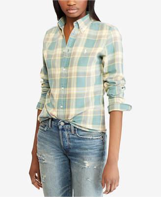 Polo Ralph Lauren Classic Fit Plaid Cotton Shirt