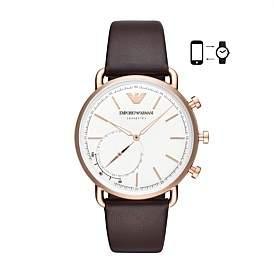Emporio Armani Men'S Brown Hybrid Smartwatch