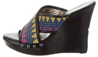 Diane von Furstenberg Leather Slide Wedges