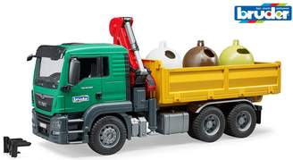 Bruder MAN TGS Truck with 3 glass recycling