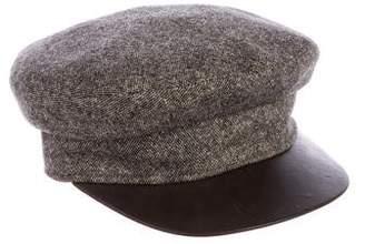 Hermes Lambskin-Trimmed Cashmere Cap