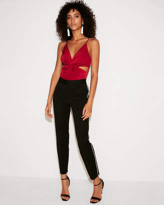 Express Cut-Out Twist Front Thong Bodysuit