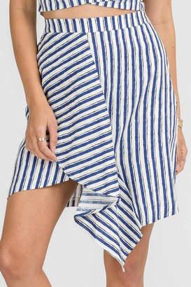 Lush Linen Stripe Skirt
