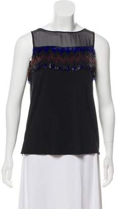 Gianni Versace Embellished Sleeveless Top w/ Tags