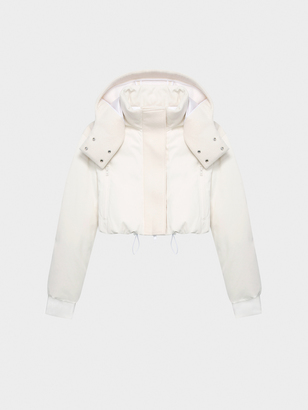 DKNY Pure Hooded Cropped Coat $598 thestylecure.com