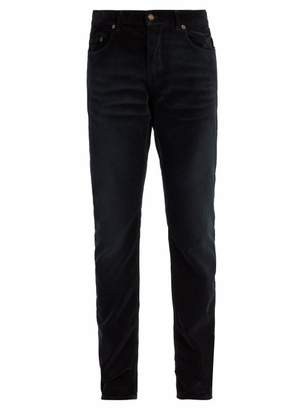 Saint Laurent Slim Leg Corduroy Jeans - Mens - Black