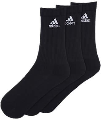 adidas Thin Crew Socks, Pack of 3, Black