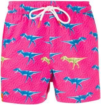 Sun 68 dinosaur-print swim shorts