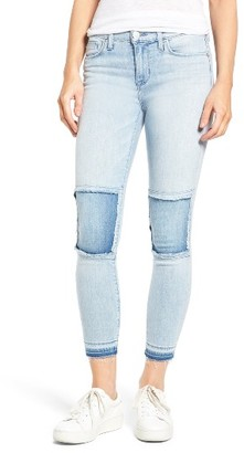 Women's Hudson Jeans Szzi Mid Rise Patched Skinny Jeans $195 thestylecure.com