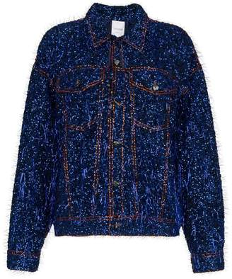 Ashish tinsel embellished denim jacket