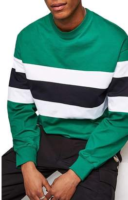 Topman Classic Fit Striped Sweatshirt
