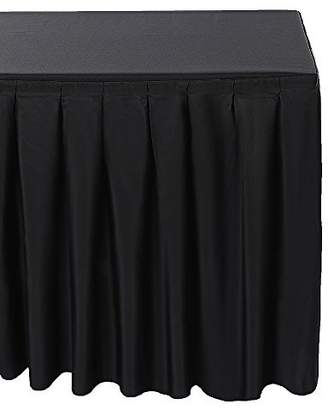 Surmente Tablecloth 14 ft Polyester Table Skirt for Weddings