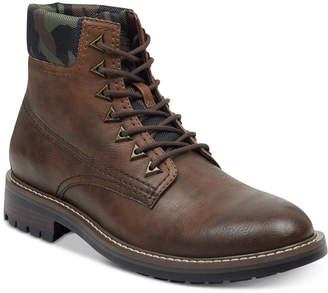 GUESS Men's Rutland Camo-Collar Boots Men's Shoes