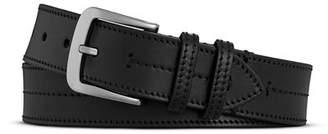 Shinola Men's Bridle Center Stitch Leather Belt