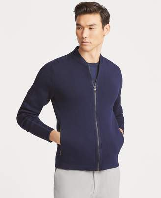 Ralph Lauren Cotton-Blend Full-Zip Sweater