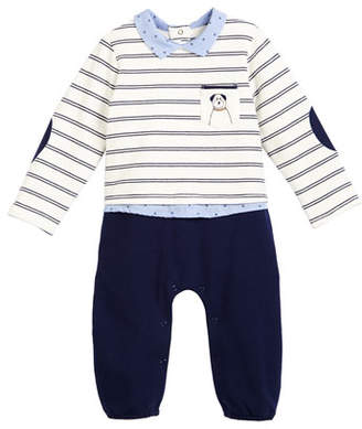 Mayoral Outfit-Look Coverall w/ Dog Pocket, Size 1-9 Months