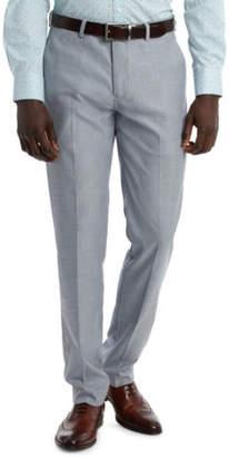 Brooksfield NEW Stretch Textured Melange Trouser Blue