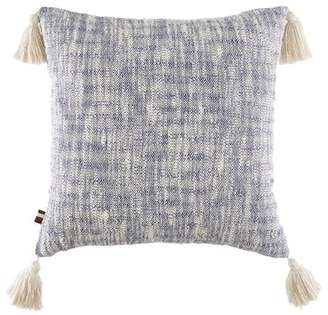 Tommy Hilfiger Margo Floral Distressed Dye with Tassels Cotton Throw Pillow