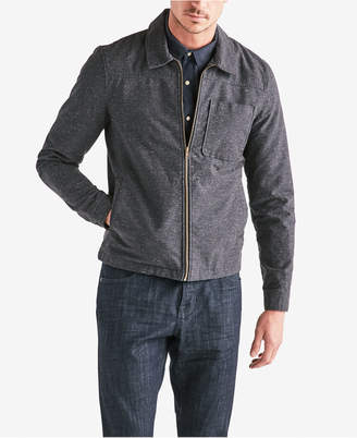 Lucky Brand Men's Nep Pattern Zip Front Jacket