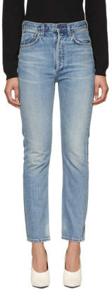 Citizens of Humanity Blue Charlotte High-Rise Straight Jeans