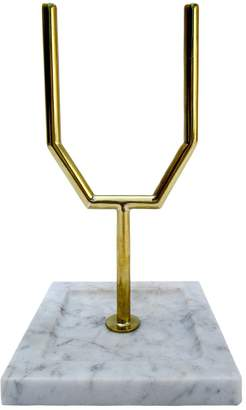 Brass & Marble Jewelry Stand