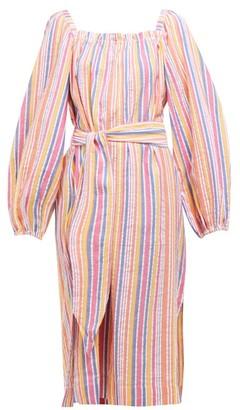 Belize - Greta Striped Cotton Dress - Womens - Multi