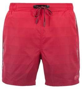 BOSS Hugo Quick-dry swim shorts degrade print & zippered pockets M Open Pink