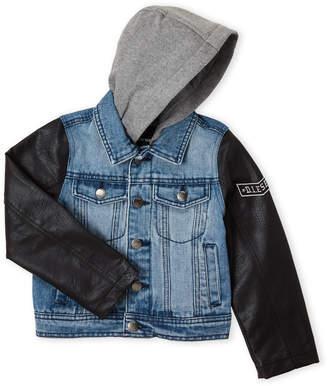 Diesel Boys 4-7) Mixed Media Hooded Denim Jacket