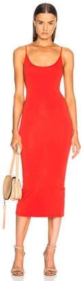 Enza Costa Jersey Back Slit Dress
