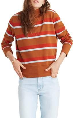 Madewell Stripe Turtleneck Sweatshirt