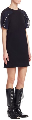 Calvin Klein Cotton Snap Mini Dress