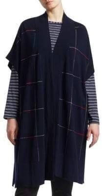 Marina Rinaldi Marina Rinaldi, Plus Size Magnesio Short-Sleeve Wool Cardigan