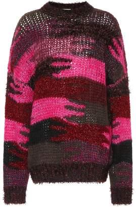 Saint Laurent Camouflage wool-blend sweater