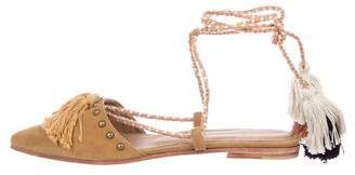 Ulla Johnson Suede Lace-Up Flats w/ Tags