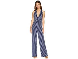 BB Dakota All The Way Up Striped Rayon Challis Jumpsuit