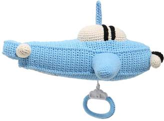 Anne Claire Hand-Crocheted Airplane With Music Box