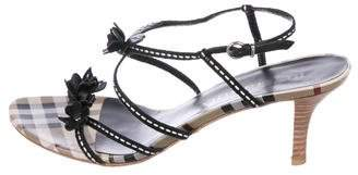 Burberry Nova Check Multistrap Sandals