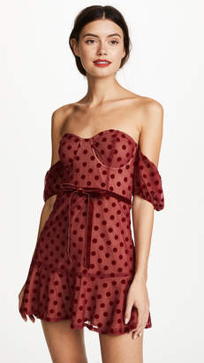 For Love & Lemons Dotty Strapless Dress