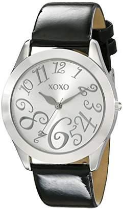 XOXO Women's XO3177 Dial Black Patent Strap Watch