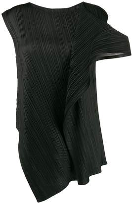 Pleats Please Issey Miyake deconstructed pleated top
